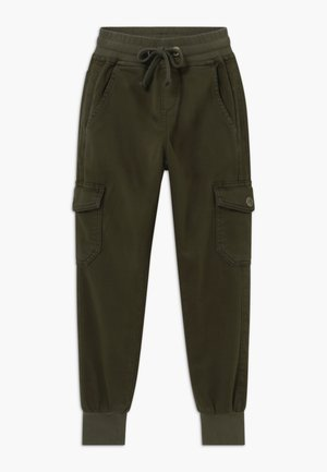 GIRLS JOGGER - Bojówki - army green reactive