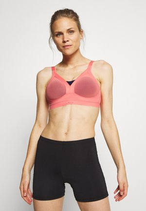 ACTIVE SHAPED SUPPORT - High support sports bra - grapefruit/dunkelblau