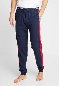 Tommy Hilfiger - PANEL PANT - Pyjama bottoms - blue - 0