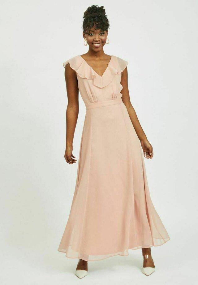 Długa sukienka - misty rose