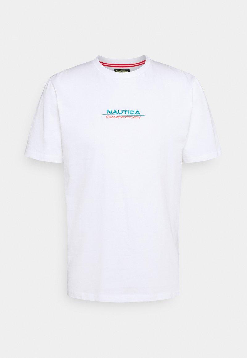 NAUTICA COMPETITION - SCUTTLES - Print T-shirt - white