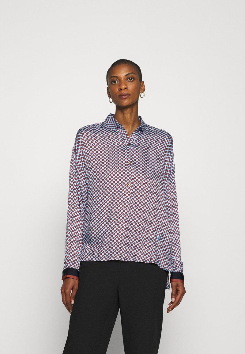 Emily van den Bergh - Button-down blouse - brown/bleu