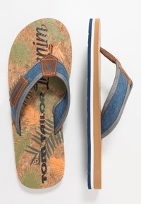 TOM TAILOR - T-bar sandals - blue denim - 1