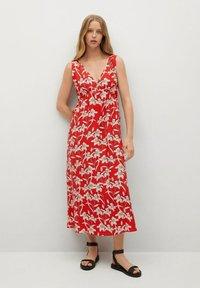 Mango - Day dress - rojo - 1