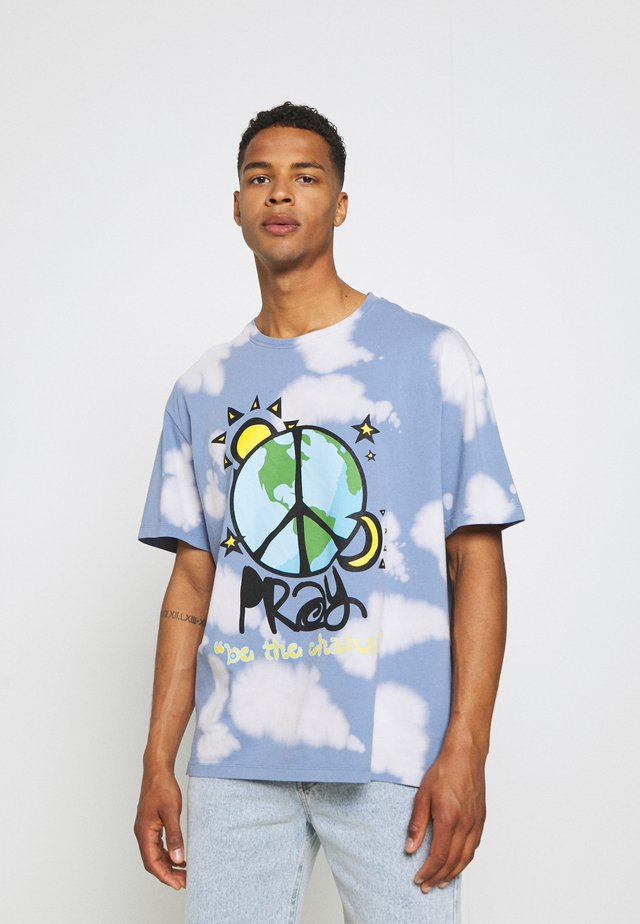 WORLD PEACE UNISEX  - Print T-shirt - blue/multi