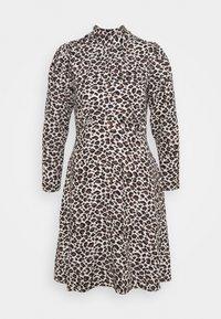 Closet - CLOSET TIE BACK A LINE DRESS - Day dress - brown - 5