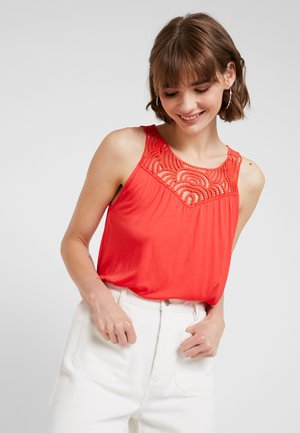 VMBERTHA EMBROIDERY - Top - poppy red