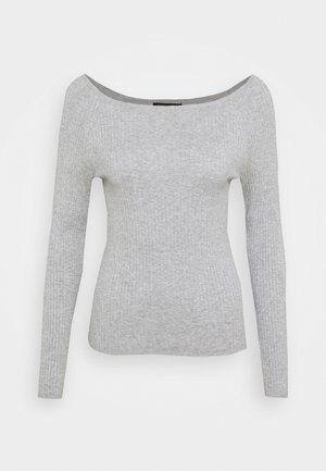 STRETCH BOATNECK - Jumper - light grey