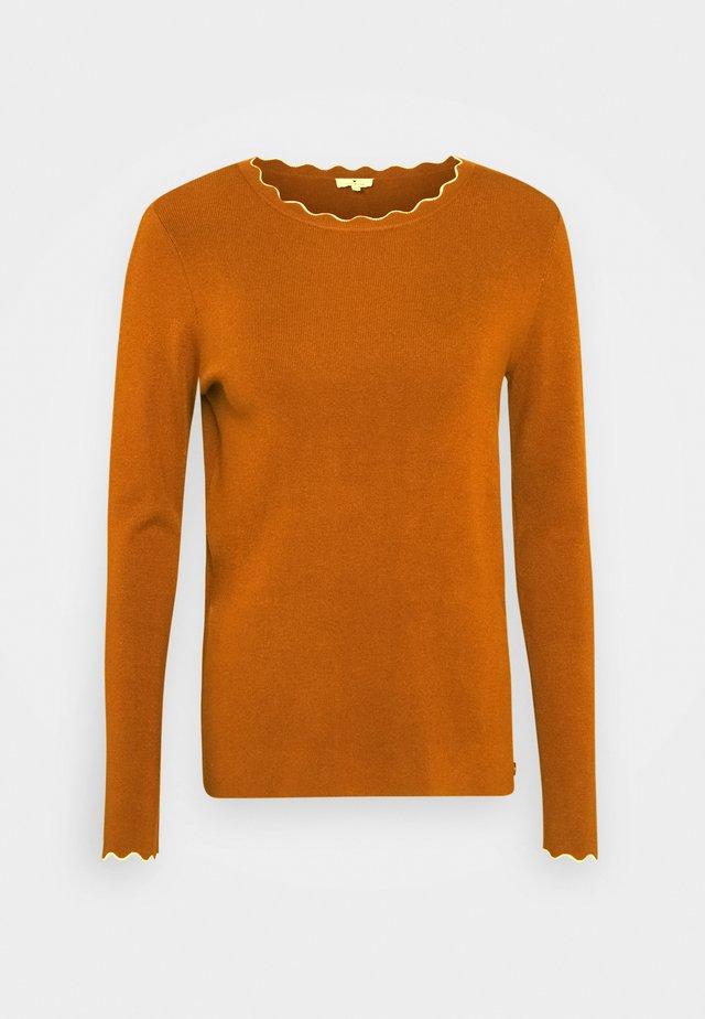 SCALLOP EDGE - Sweter - tawny brown melange