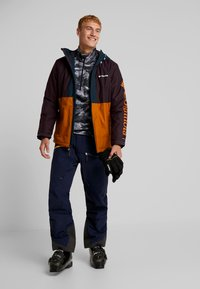 Columbia - TIMBERTURNER JACKET - Snowboardjacke - burnished amber/black cherry - 1