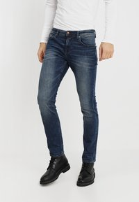 TOM TAILOR DENIM - SLIM AEDAN - Jean slim - mid stone wash denim - 0