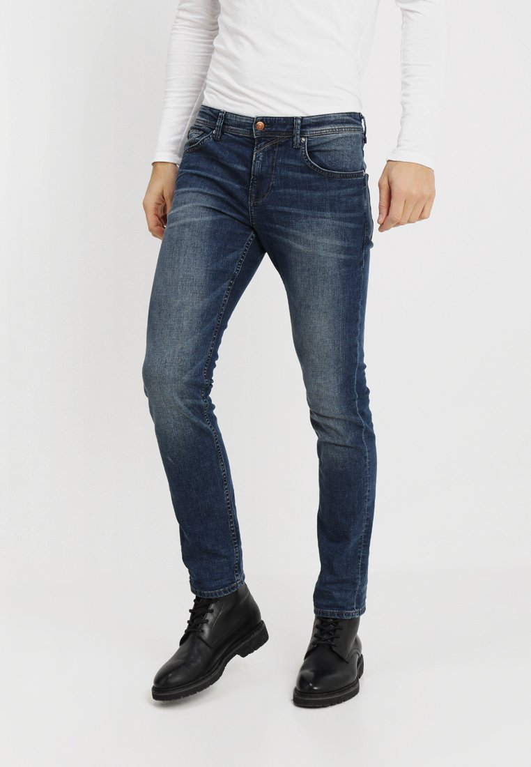 TOM TAILOR DENIM - SLIM AEDAN - Jean slim - mid stone wash denim