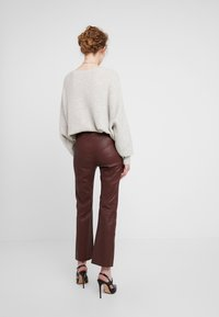 InWear - Leather trousers - bitter chocolate - 2