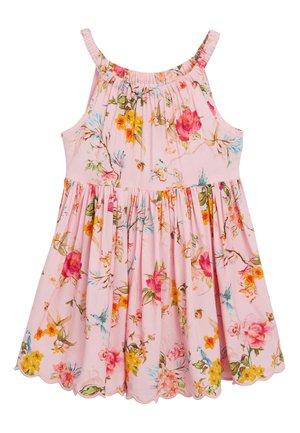 PINK FLORAL DRESS - Denní šaty - pink