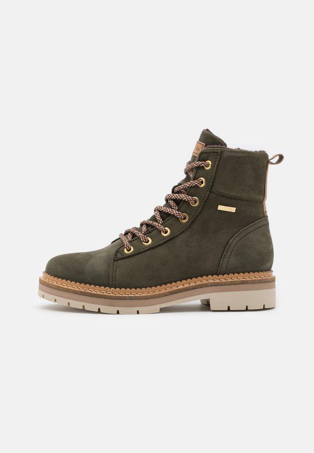 Platform ankle boots - olive