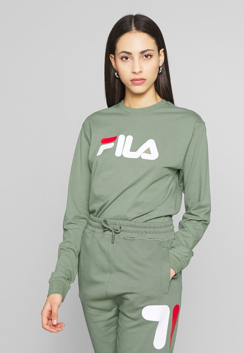 Fila Tall - PURE LONG SLEEVE SHIRT - Long sleeved top - sea spray