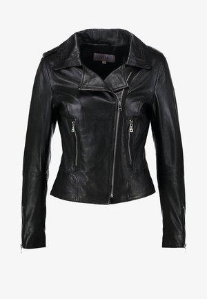 BEAR BLAZE - Kožená bunda - black