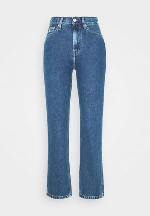 HIGH RISE STRAIGHT ANKLE - Straight leg jeans - ab076 icn light blue