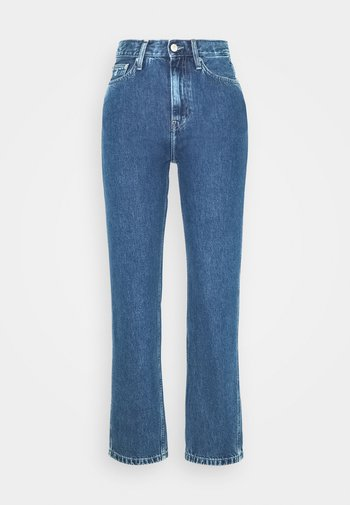 HIGH RISE STRAIGHT ANKLE - Straight leg jeans - ab076 icn light blue