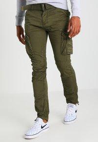 Schott - TRRANGER - Cargo trousers - olive - 0