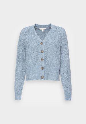 CABLE CROP CARDI - Cardigan - light blue