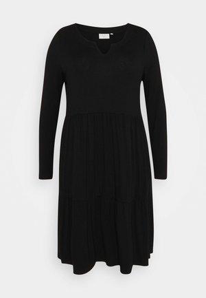 PATRI DRESS - Jersey dress - black deep