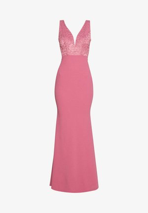 SLEEVLESS VNECK DRESS WITH SIDES - Robe de cocktail - mellow rose