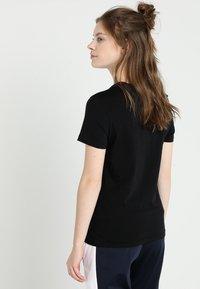 adidas Performance - ESSENTIALS SPORTS SLIM SHORT SLEEVE TEE - T-shirt print - black/white - 2
