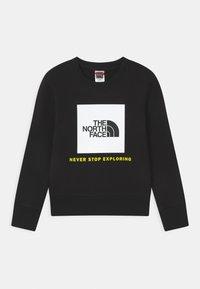 The North Face - BOX CREW UNISEX - Sweatshirt - black/white - 0