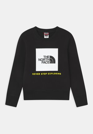 BOX CREW UNISEX - Sweatshirt - black/white
