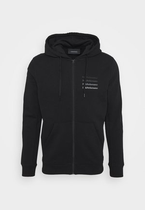GROUND ZIP HOOD - Mikina na zip - black