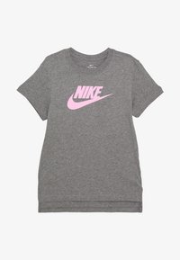 Nike Sportswear - BASIC FUTURA - T-shirt print - carbon heather/pink
