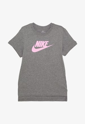 TEE BASIC FUTURA - Triko s potiskem - carbon heather/pink