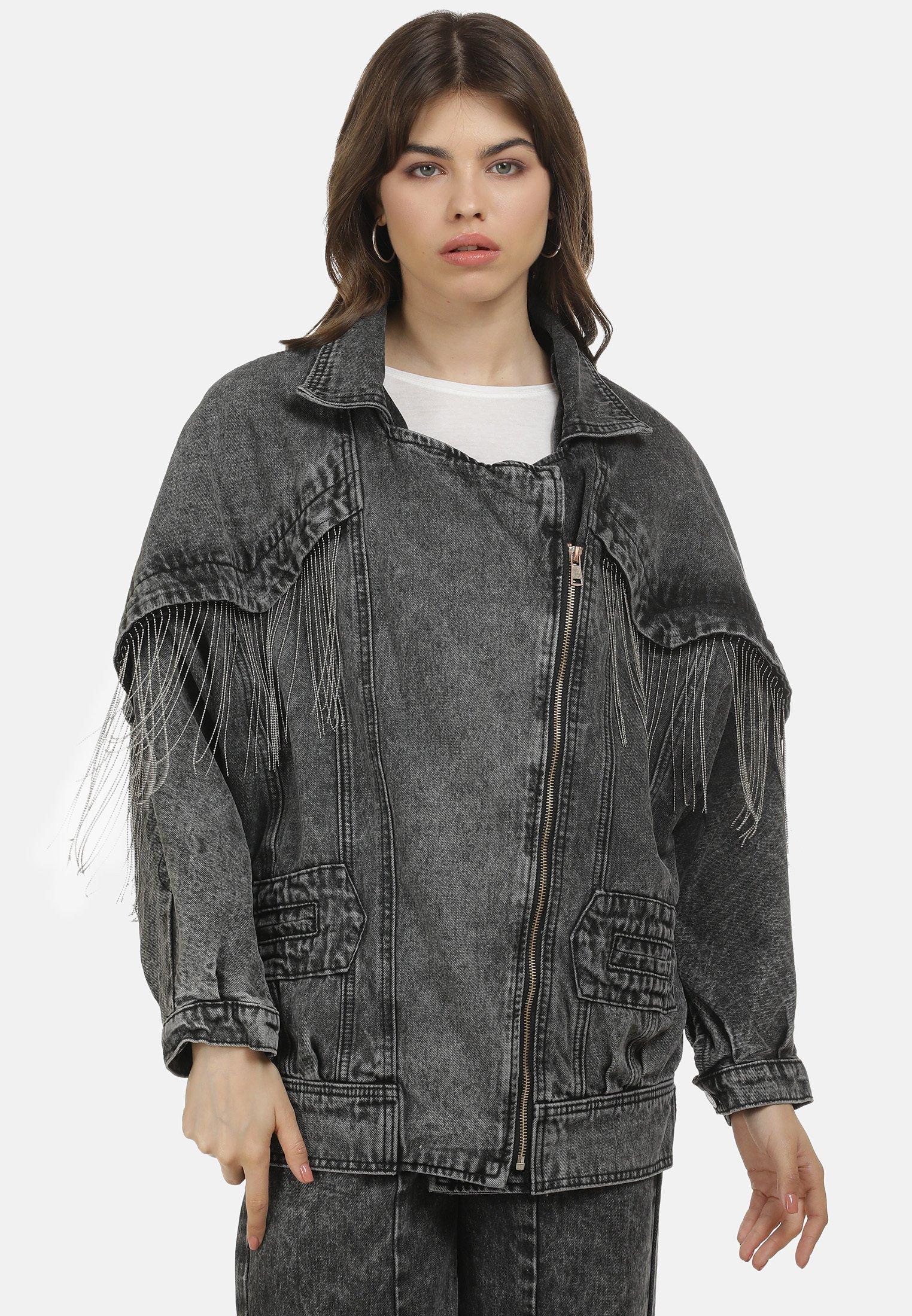 Original Women's Clothing myMo JEANSJACKE Denim jacket schwarz ekAgUt6Ae