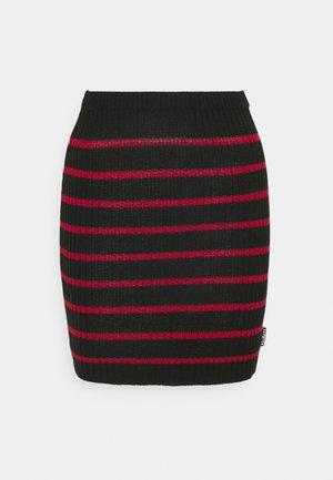 SKIRT - Mini skirt - red/black