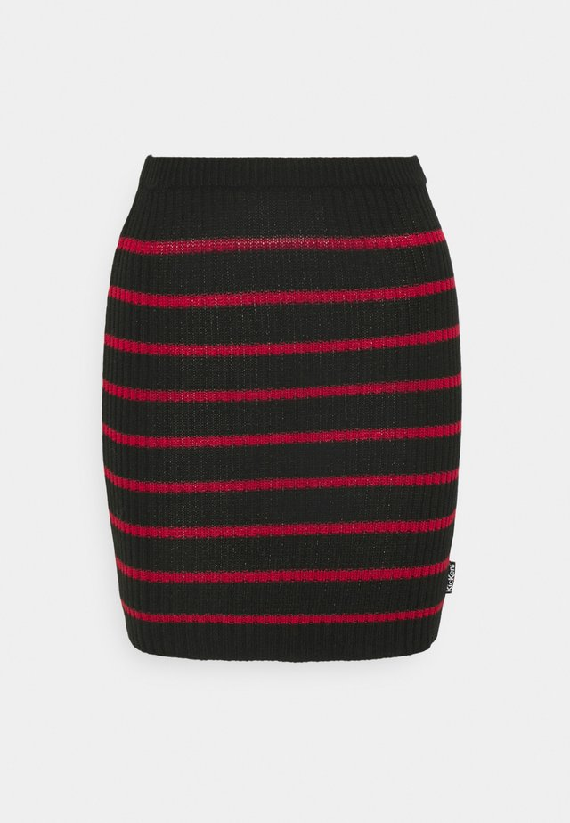 SKIRT - Mini skirt - red/black