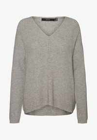Vero Moda - V-AUSSCHNITT - Jumper - light grey melange - 4