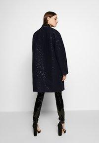 KARL LAGERFELD - SEQUIN COAT  - Classic coat - navy/black - 2