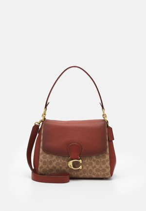 SIGNATURE MAY SHOULDER BAG - Handbag - tan/rust