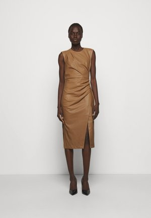 MARIE PLEAT DRESS - Shift dress - camel