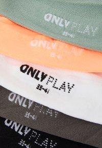 ONLY Play - ONPTRAINING SOCKS 5 PACK - Calcetines de deporte - black/white/lgm/gray mist/neo - 1