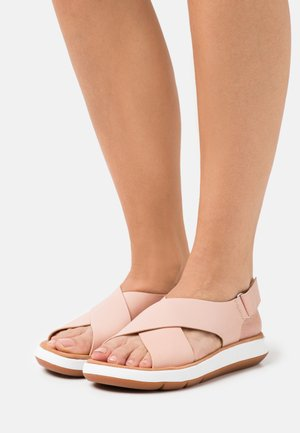 JEMSA CROSS - Sandals - light pink