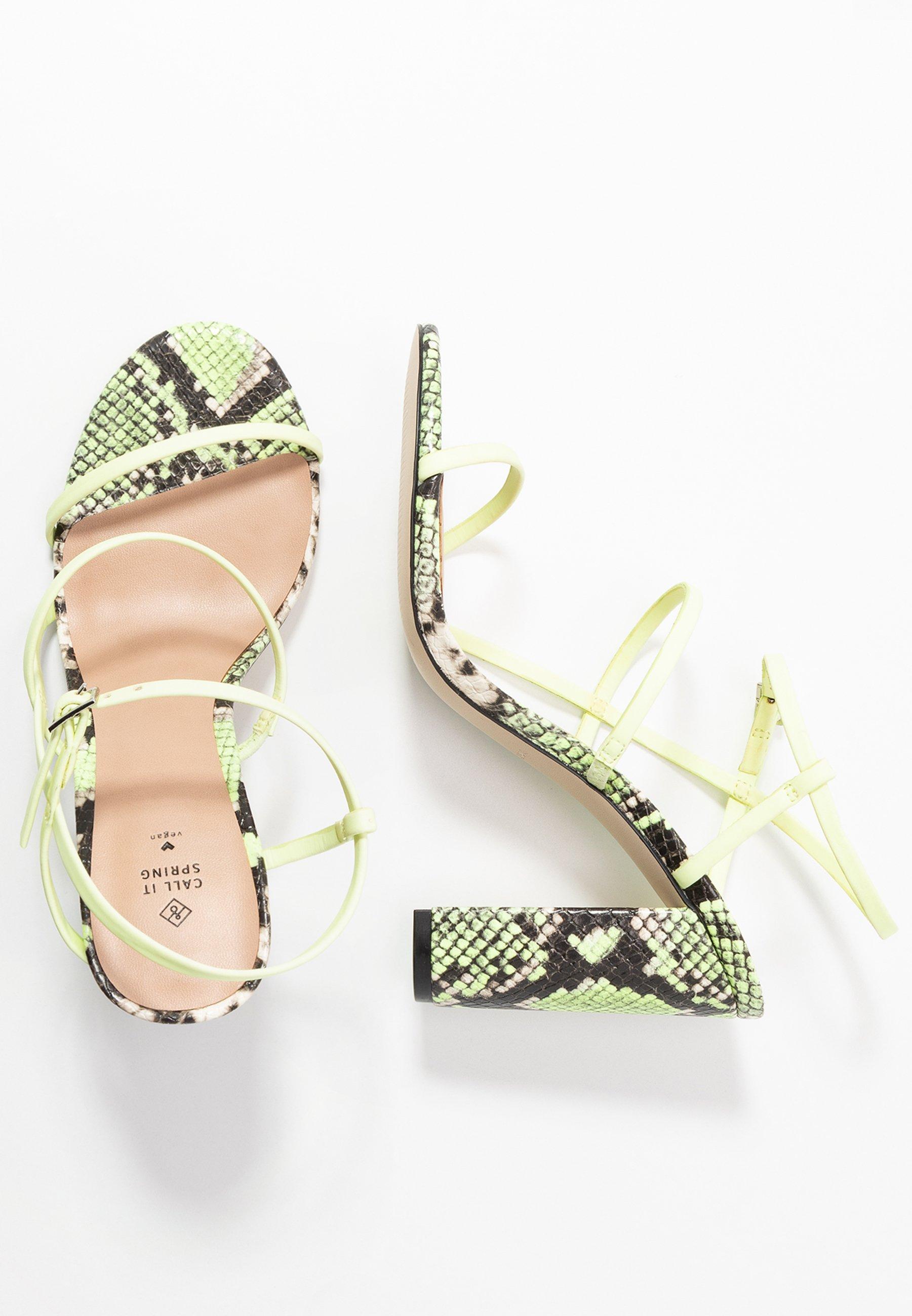 Call it Spring - IMPRESSA - High heeled sandals - light green