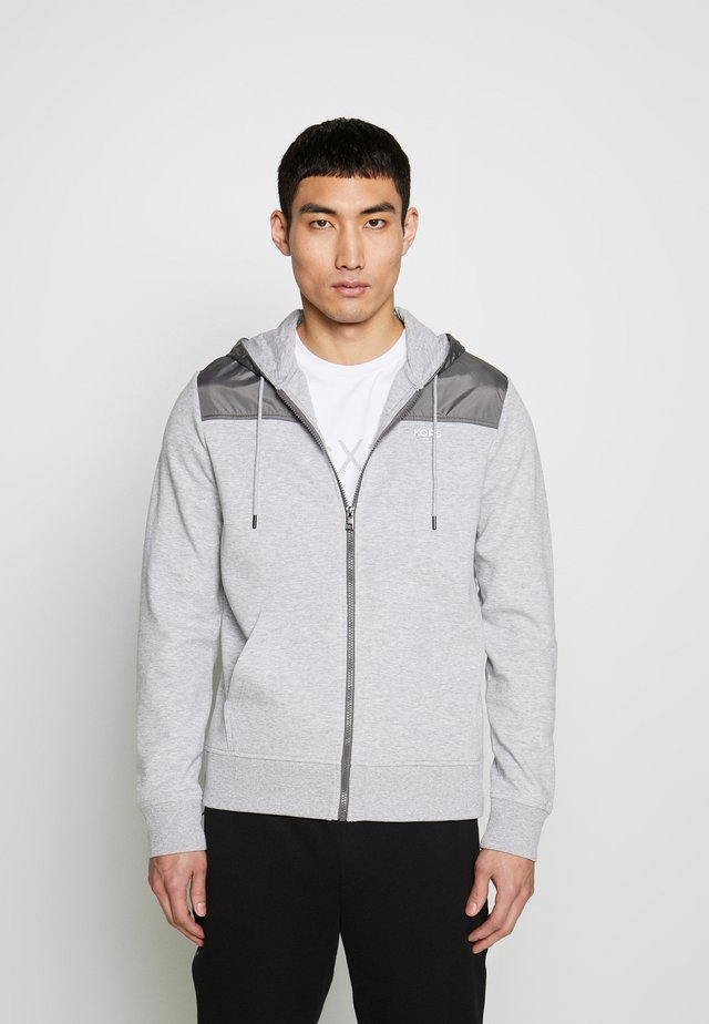 LOGO  - veste en sweat zippée - heather grey