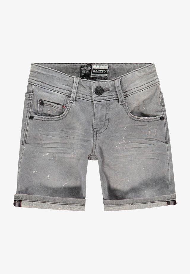 Denim shorts - mid grey stone