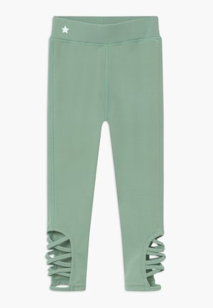 GIRLS CUT OUT LEGGINGS - Collant - sage green