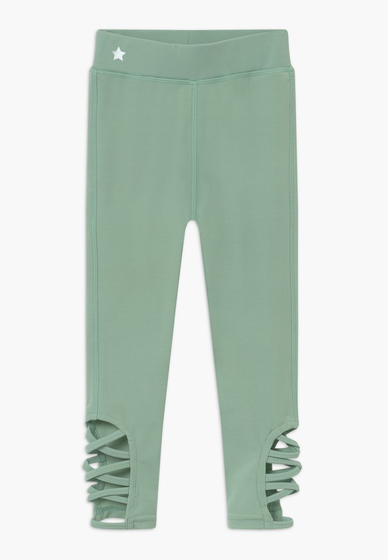 South Beach - GIRLS CUT OUT LEGGINGS - Leggings - sage green