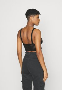 Missguided - LACE UP BRALET - Top - black - 2