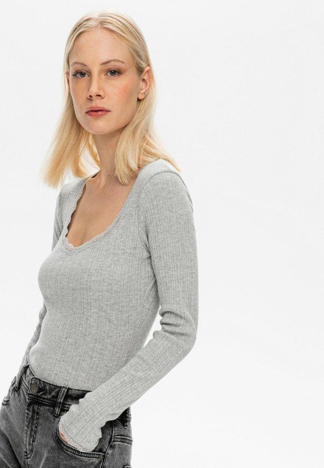 T-shirt à manches longues - gris clair