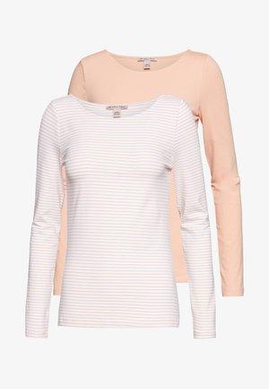 2 PACK - Top sdlouhým rukávem - dusty pink/white